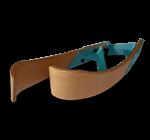 Adjustable wooden armrest